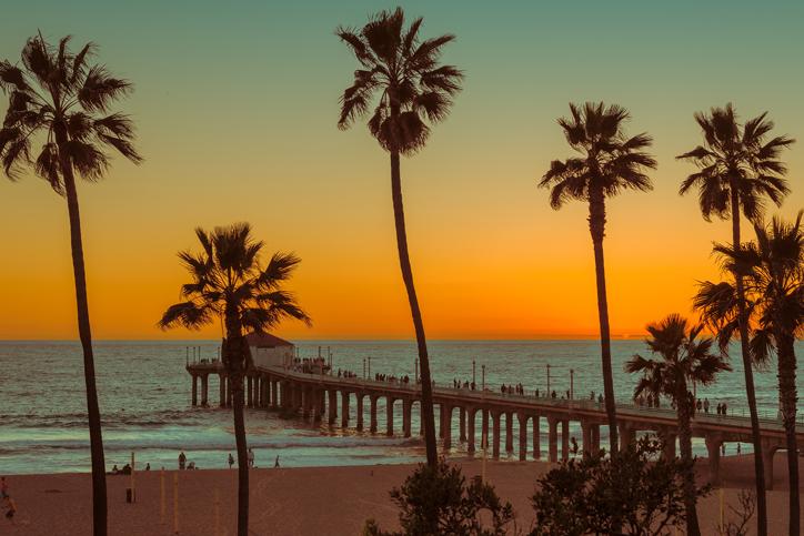 Manhattan Beach California Ocean Pier Aerial
